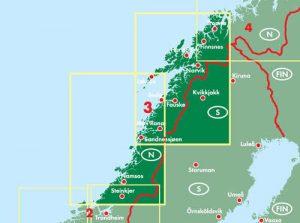 Kaart Noorwegen is binnen